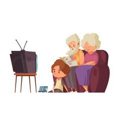 Grandparents flat vector