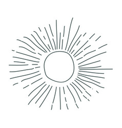 gray hand drawing silhouette of sun vector image