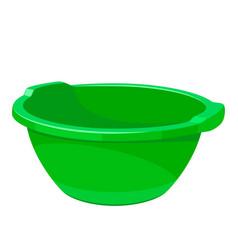 Green empty wash basin vector
