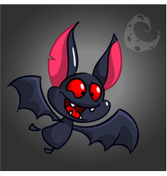 halloween cute bat cartoon vector image