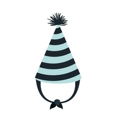 Hand drawing blue party hat with thick lines vector
