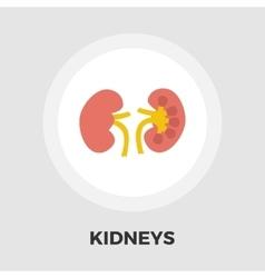 Human Kidney flat icon vector image