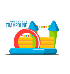 Inflatable trampoline playground toy vector