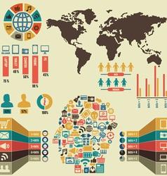 Infographic social media vector