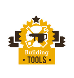 Logo building tools equipment for professional vector