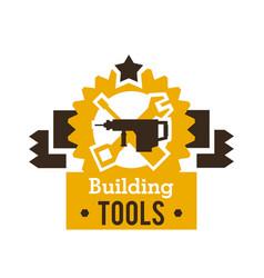 Logo building tools equipment for professional vector