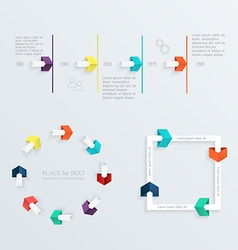 Minimal infographics design set vector image
