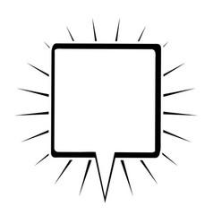 Monochrome silhouette square shape dialog box with vector