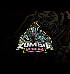 monster zombie mascot design vector image