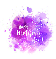 mothers day purple blot florals vector image