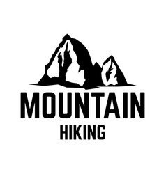 mountain hiking emblem template with mountain vector image