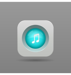 Music note button vector