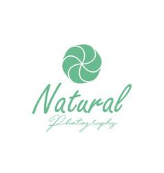 nature photographer logo design inspiration vector image