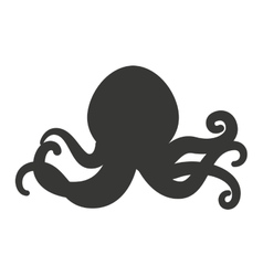 octopus tentacles isolated icon vector image