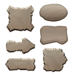 Panels from stones and rocks pictures vector