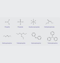 phosphorus compounds vector image