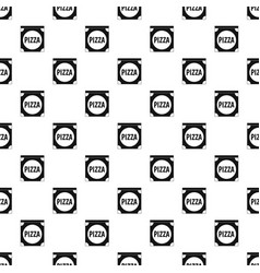 Pizza box cover pattern vector