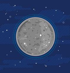 Planet mercury in space in flat style vector