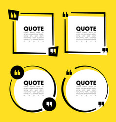 quote speech bubble template set quotes form vector image