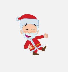 santa claus laughing while teaching something to vector image