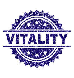 Scratched textured vitality stamp seal vector