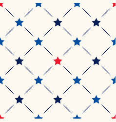 seamless geometric pattern with red vector image
