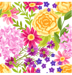 Seamless pattern with pretty flowers vector