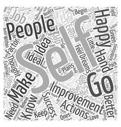 Self Improvement Word Cloud Concept vector
