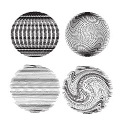 Set of abstract fractal spheres element for your vector