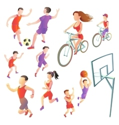 Set of people involved in different kinds sports vector