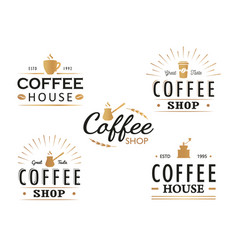 set of vintage coffee logo templates vector image