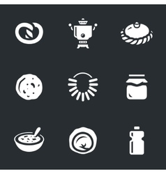 set russian cuisine vector image