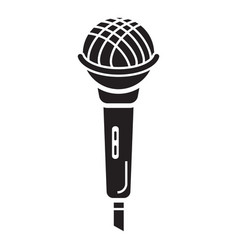 Singer microphone icon simple style vector