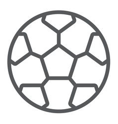 soccer ball line icon game and sport football vector image