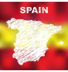 Spanish Abstract Map vector image