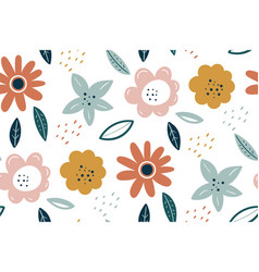 spring texture multicolored flowers on a white vector image
