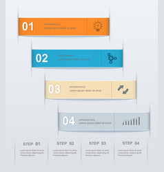stepwise numeric template infographic vector image