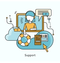 Support Icon Flat Design Concept vector