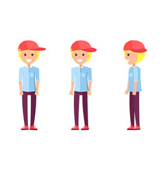 teenager blond construction vector image