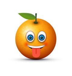 Tongue out emoji vector