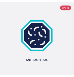 Two color antibacterial icon from hygiene concept vector
