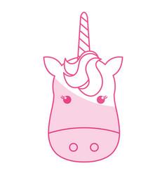 Unicorn animal horn vector