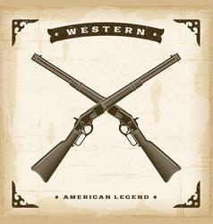Vintage western rifles vector