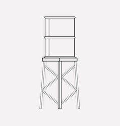 water tank icon line element vector image