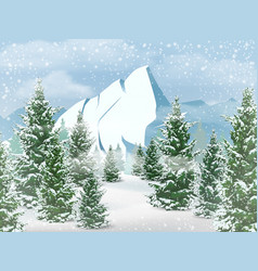 Winter mountains landscape vector