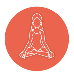 woman in lotus position vector image
