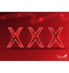xxx background vector image
