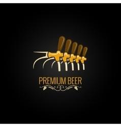beer tap vintage ornate design background vector image vector image