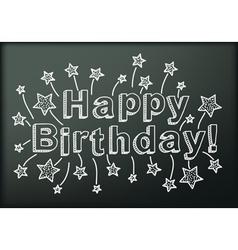 Blackboard with happy birthday vector