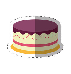 cake dessert party celebration shadow vector image vector image